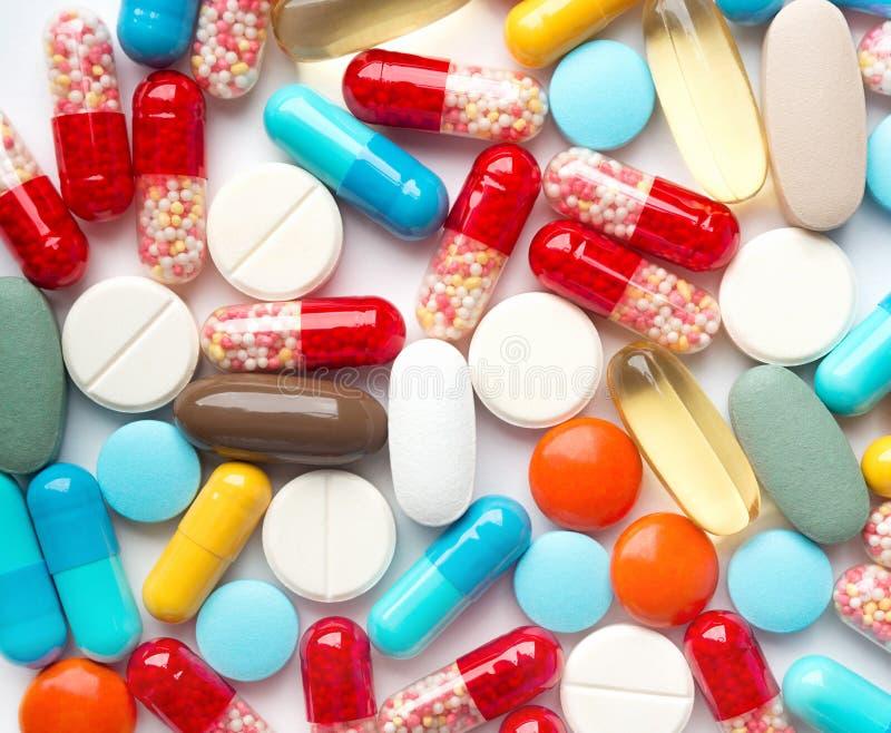 Montón de las píldoras de la medicina fotografía de archivo