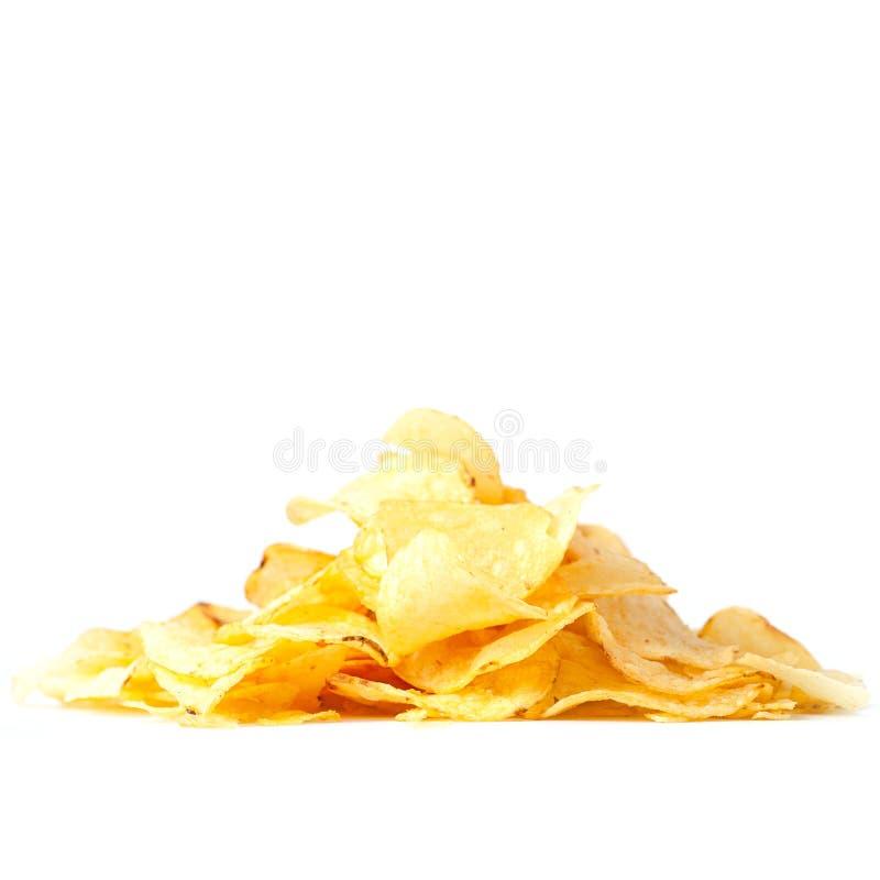 Montón de las patatas fritas fotos de archivo
