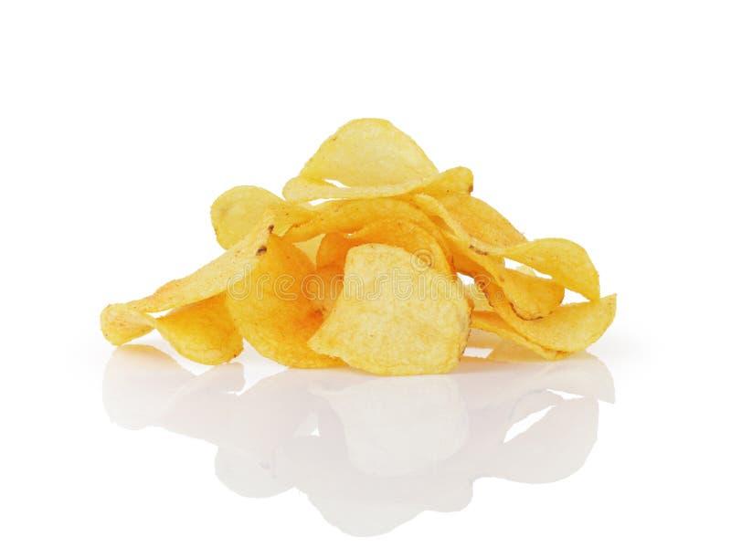 Montón de las patatas fritas con paprika fotografía de archivo
