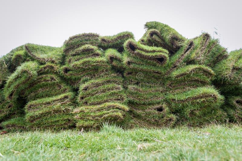 Montón de los céspedes naturales de la hierba imágenes de archivo libres de regalías
