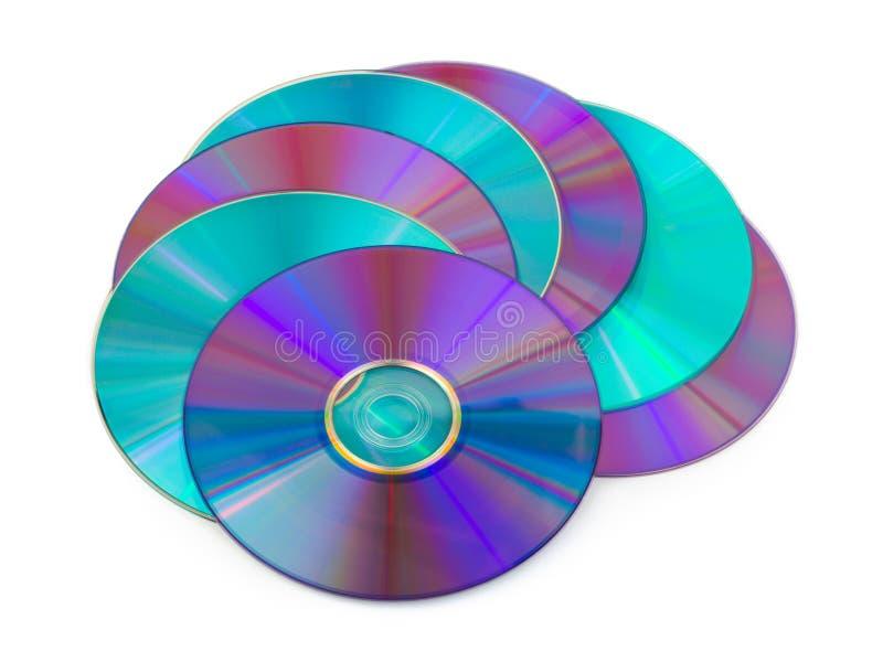 Montón de los discos del ordenador foto de archivo