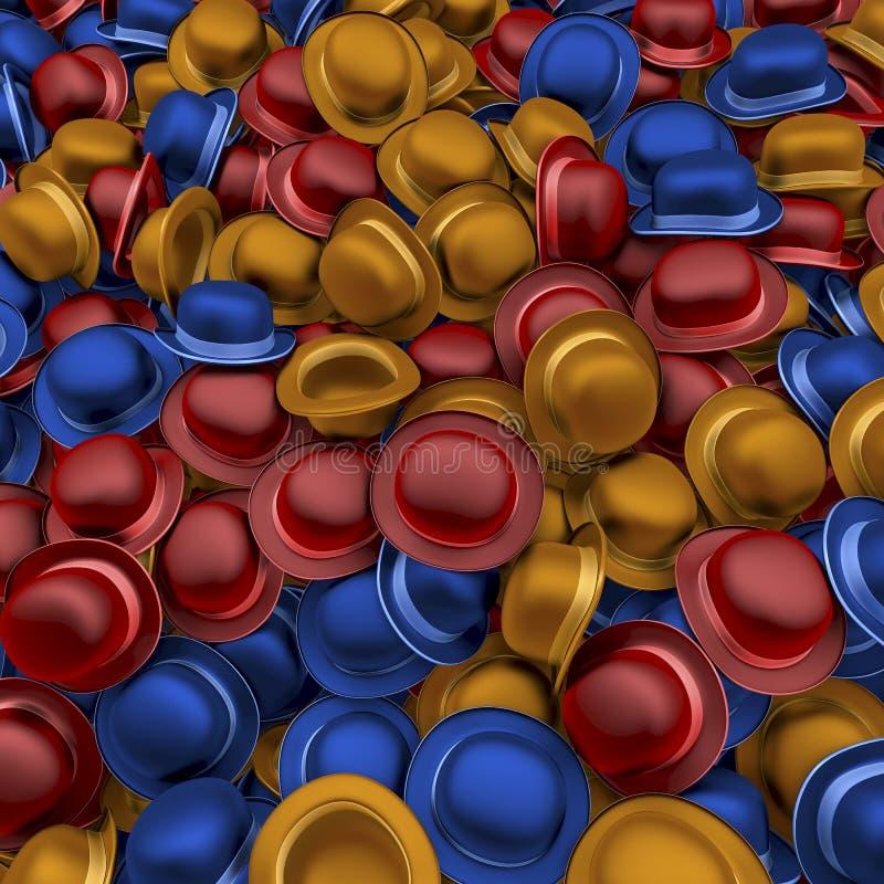 Montón de los hongos coloridos ilustración del vector