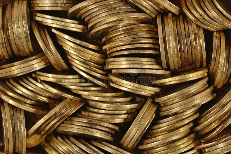 Montón de monedas foto de archivo libre de regalías