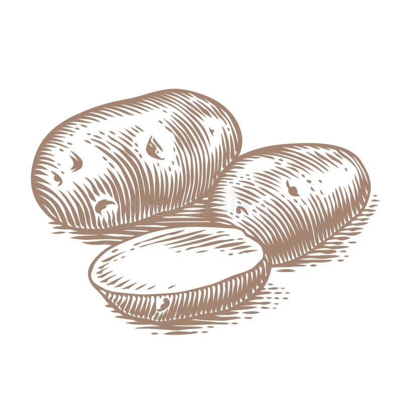 Montón de patatas libre illustration