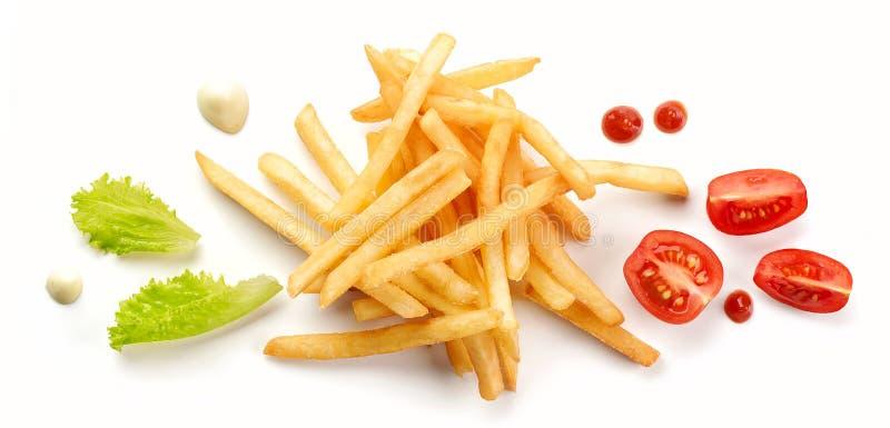 Montón de patatas fritas imagen de archivo libre de regalías