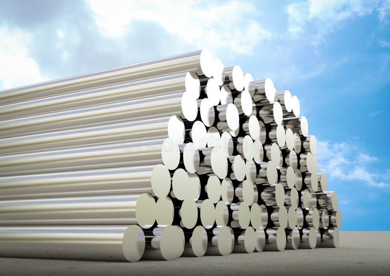 Montón de tubos stock de ilustración
