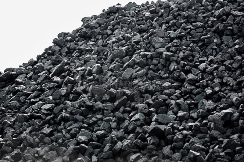 Montón del carbón fotografía de archivo libre de regalías