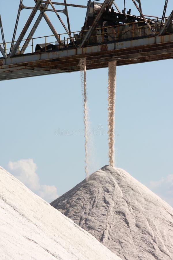 Montões do sal, Margherita di Savoia, Itália fotos de stock royalty free