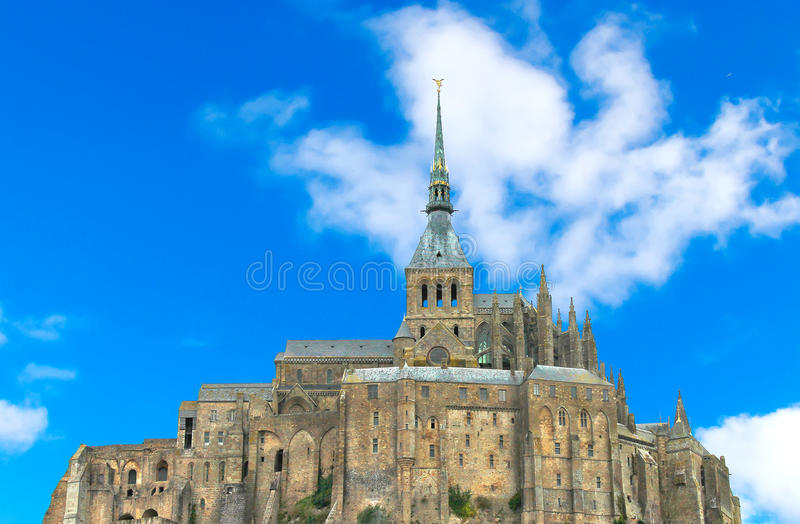 Mont圣徒米谢尔修道院。 库存照片