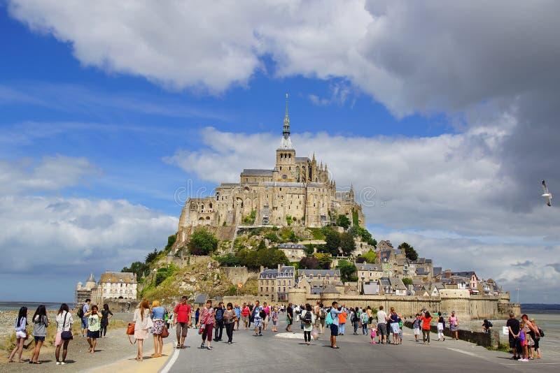 Mont Święty Michel. Francja. zdjęcie stock