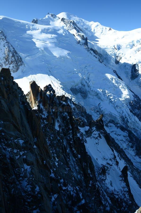 Mont Blanc冰川 库存图片