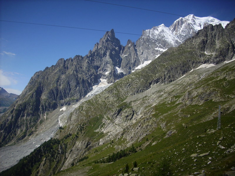 Mont Blanc 10 royalty free stock images
