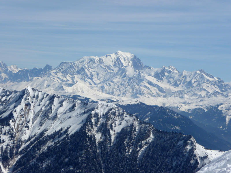 Mont blanc. Landscape of mountain Mont blanc alps france royalty free stock photography