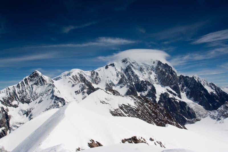 Mont Blanc fotografering för bildbyråer