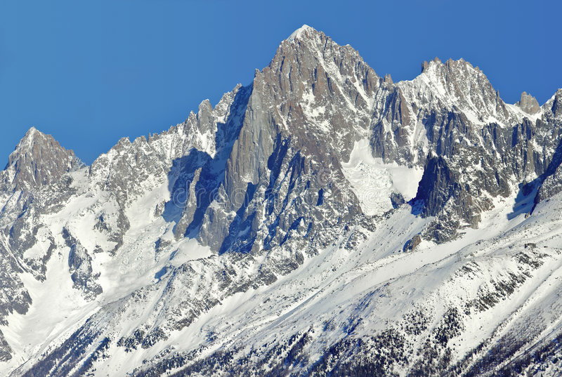 Mont Blanc. Winter in Mont Blanc in France royalty free stock images