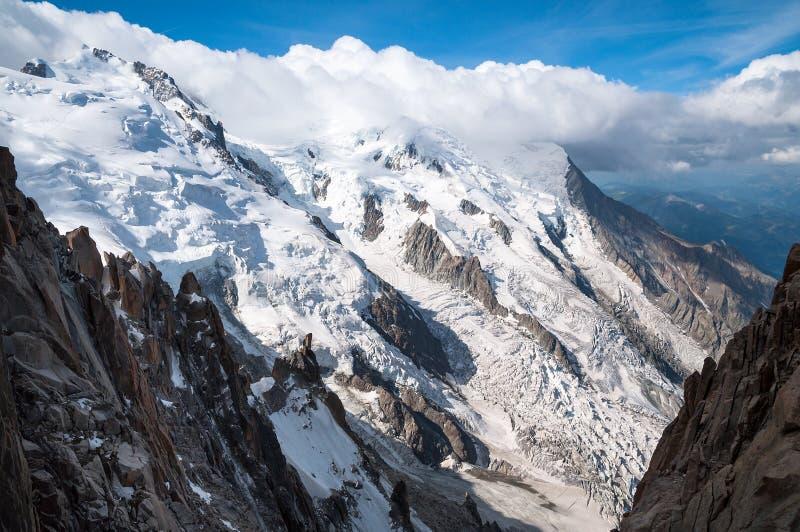Mont Blanc, Aiguille du Midi στοκ εικόνα