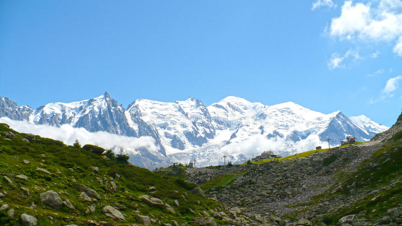 Mont Blanc in the Alps stock photo