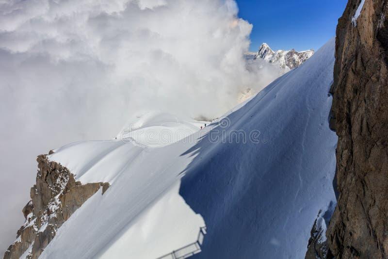 Mont Blanc-Berg, Frankreich stockbilder