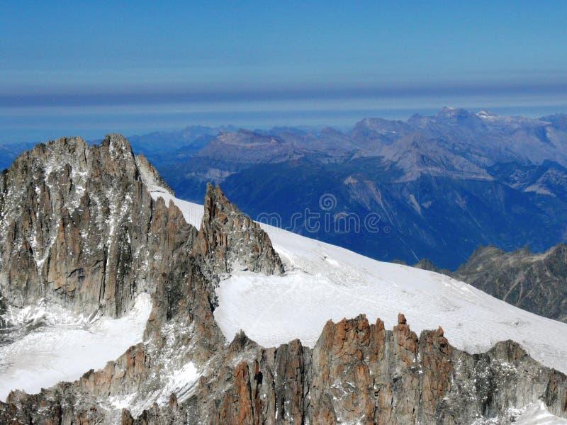 Mont Blanc-bergketen royalty-vrije stock afbeeldingen