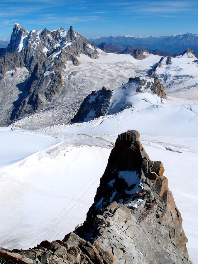 Mont Blanc-Betrachtungs-Punkt lizenzfreie stockfotografie