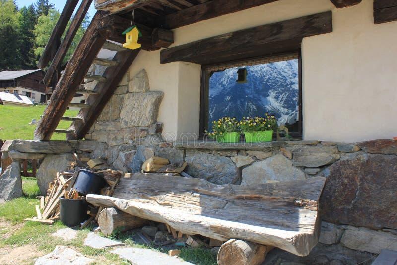 Mont Blanc Chamonix royalty-vrije stock fotografie