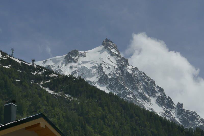 Mont Blanc de Chamonix image stock
