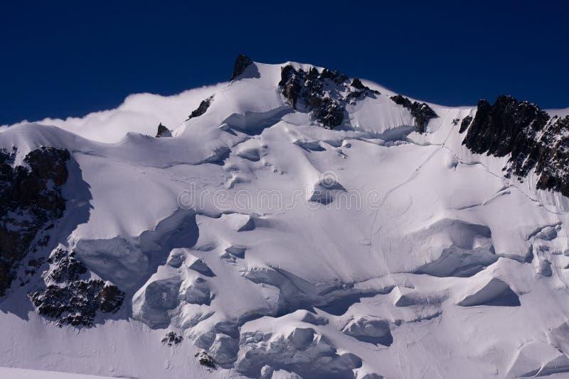 Mont Blanc du Tacul photographie stock libre de droits