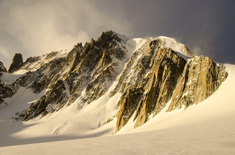 Mont Blanc du Tacul fotos de archivo