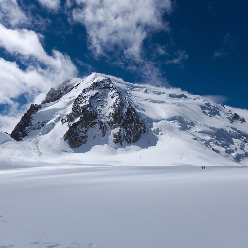 Mont Blanc du Tacul fotografía de archivo libre de regalías