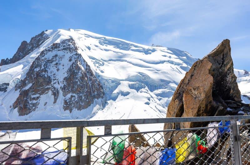 Mont Blanc du Tacul mountain peak view royalty free stock images