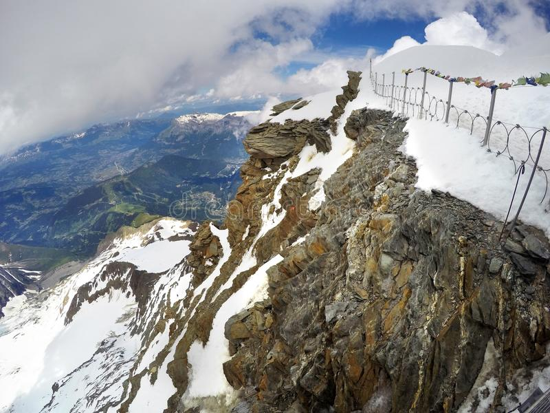 Mont Blanc e Chamonix-Mont-Blanc fotografia stock