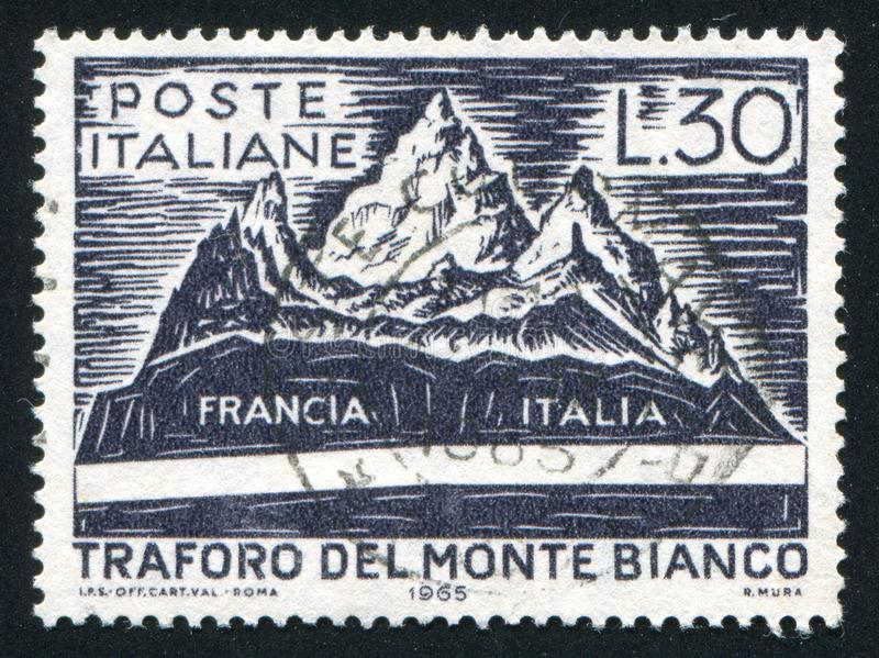 Mont Blanc e tunnel immagine stock