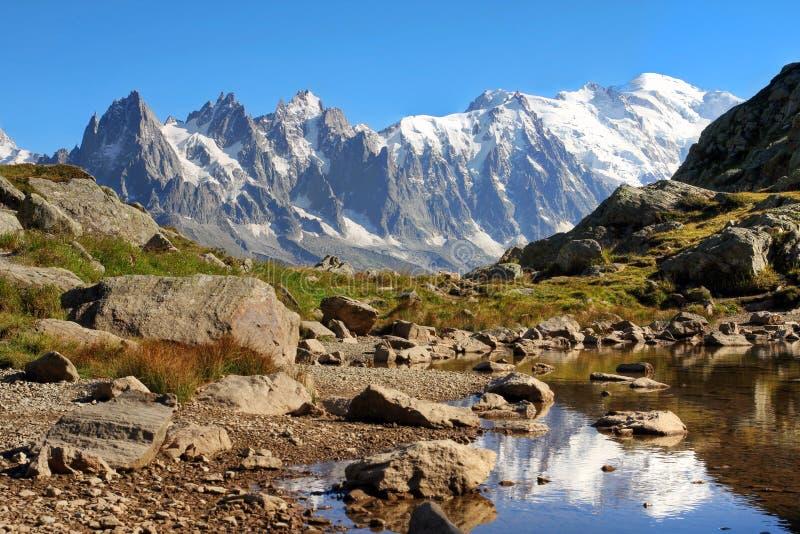 Mont Blanc, Frankrike arkivbild