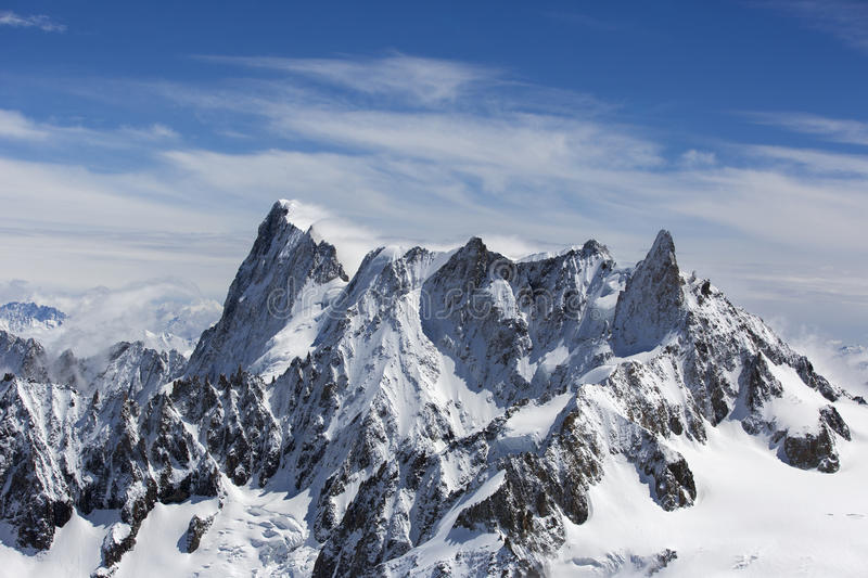 Mont blanc. In the french alps royalty free stock photography