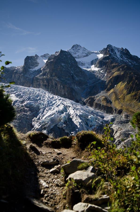 Mont Blanc glacier royalty free stock photos