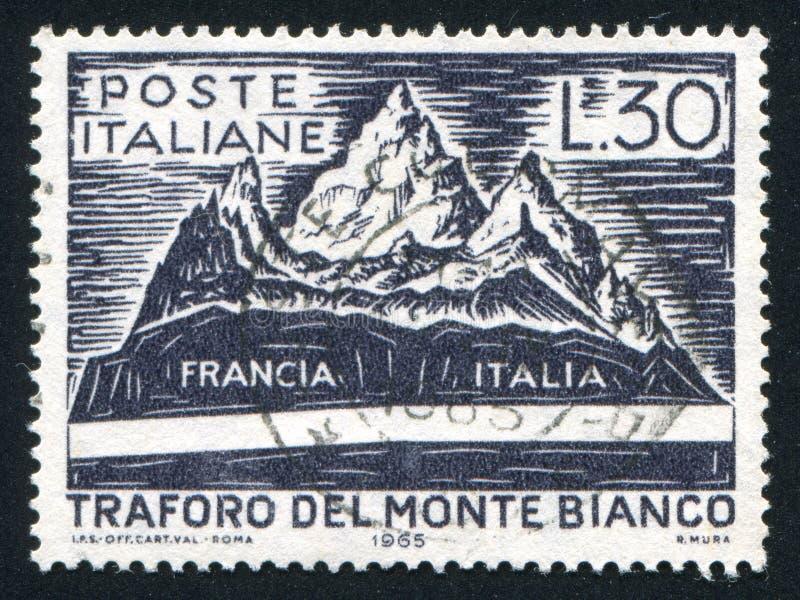 Mont Blanc i tunel obraz stock