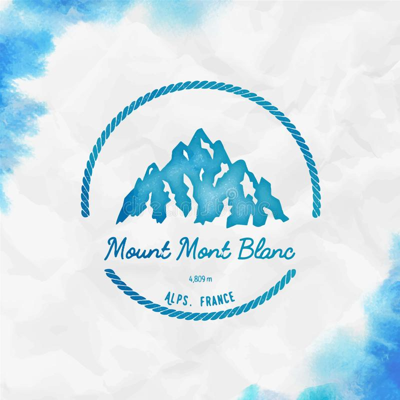 Mont Blanc logo vektor illustrationer