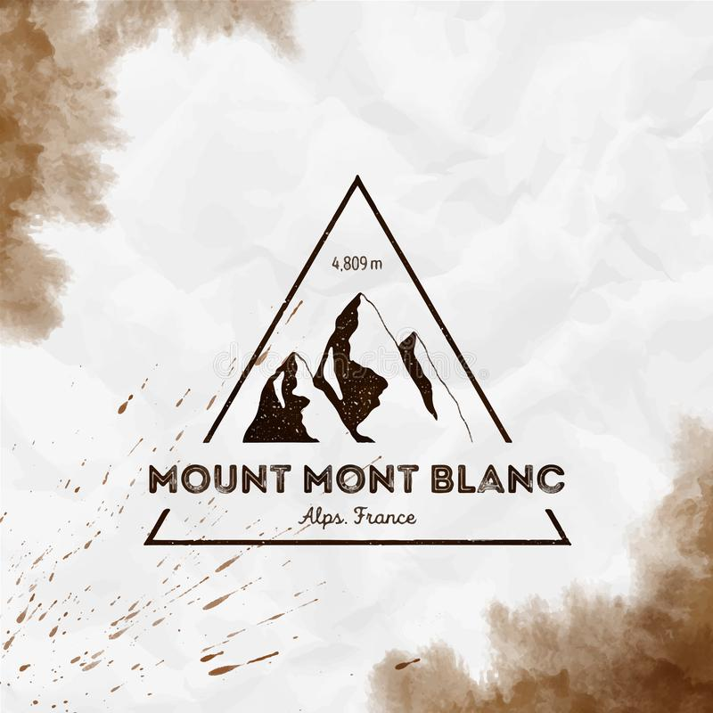 Mont Blanc logo stock illustrationer