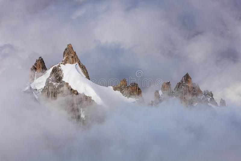 Mont Blanc massif, France royalty free stock photography