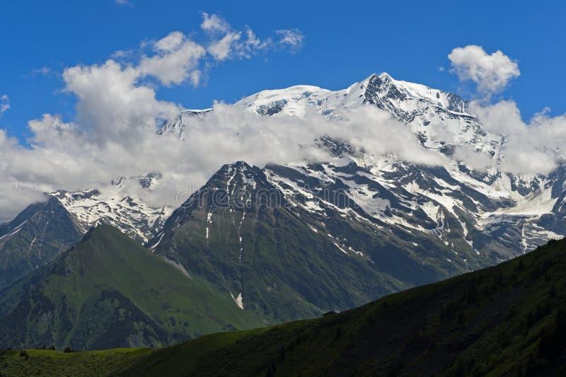 Mont Blanc massif,. Chamonix, Haute-Savoie, France stock photos