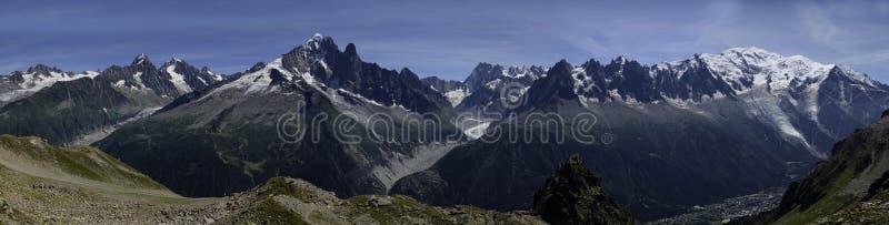 Mont Blanc se extiende imágenes de archivo libres de regalías