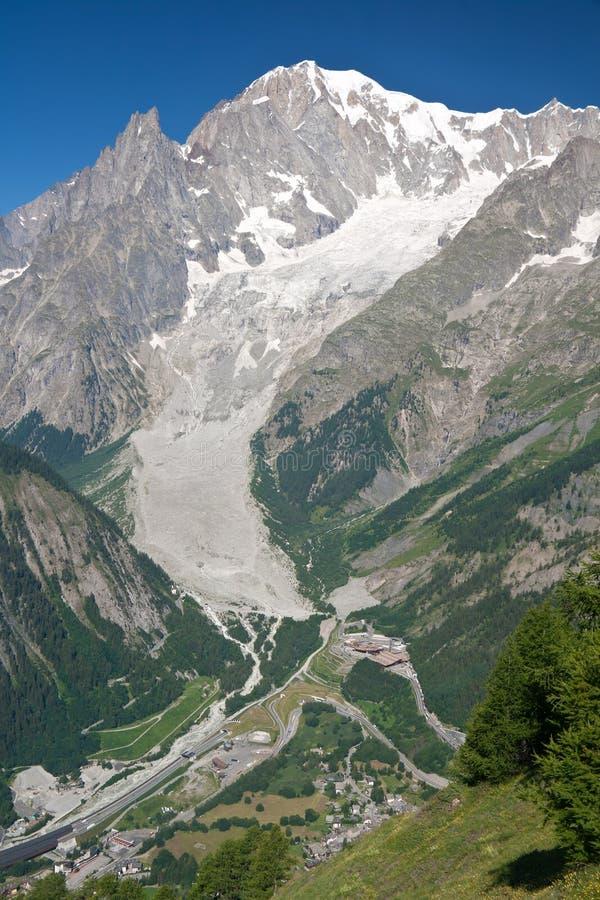 Mont Blanc - verticale immagini stock
