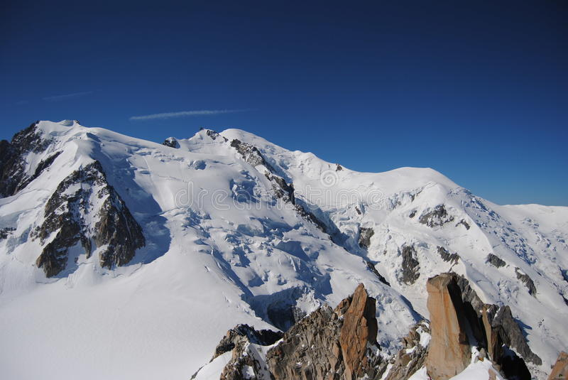 Mont Blanc. View of the Mont Blanc Surroundings royalty free stock image