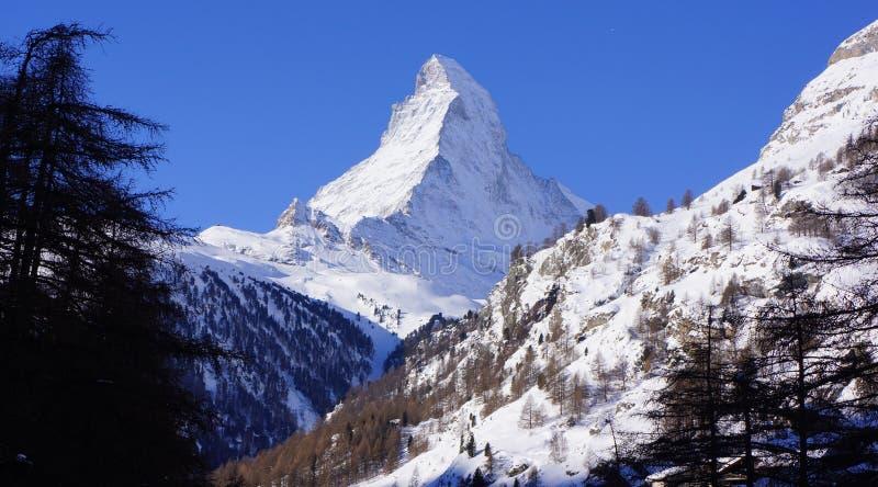 Mont Blanc, Zermatt, Zwitserland stock fotografie
