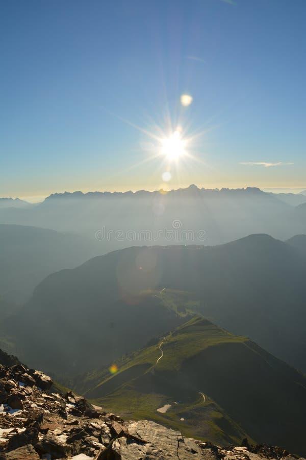 Mont Blank massiv arkivbilder