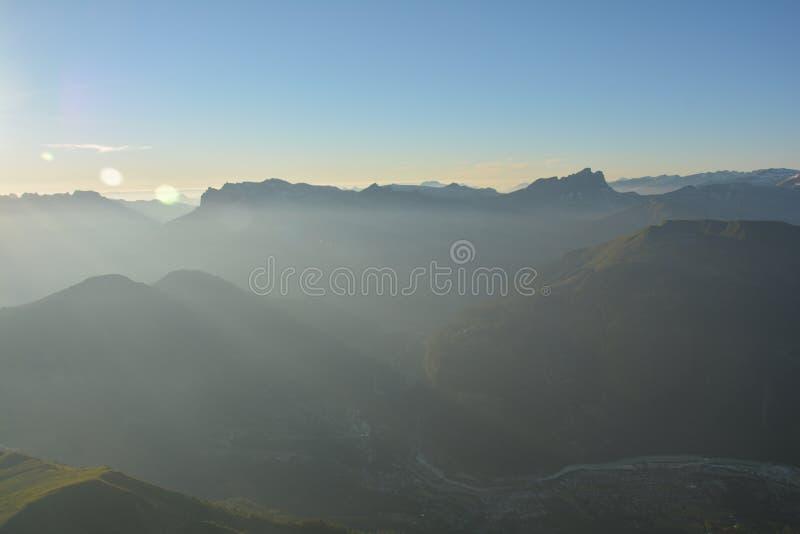 Mont Blank massiv fotografering för bildbyråer