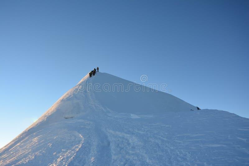 Mont Blank massiv arkivfoton