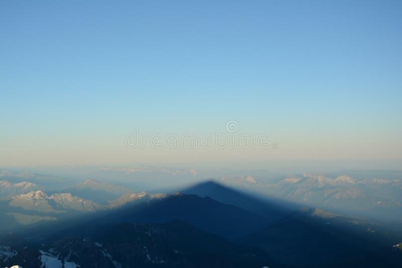 Mont Blank massiv arkivfoto