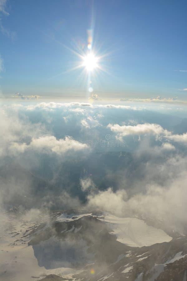 Mont Blank massiv arkivbild
