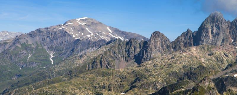 Mont Buet en Aiguille du Pouce stock fotografie